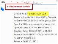 可能的偽造詐騙郵件